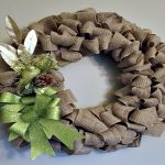 Changing A Burlap Wreath From Fall To Christmas
