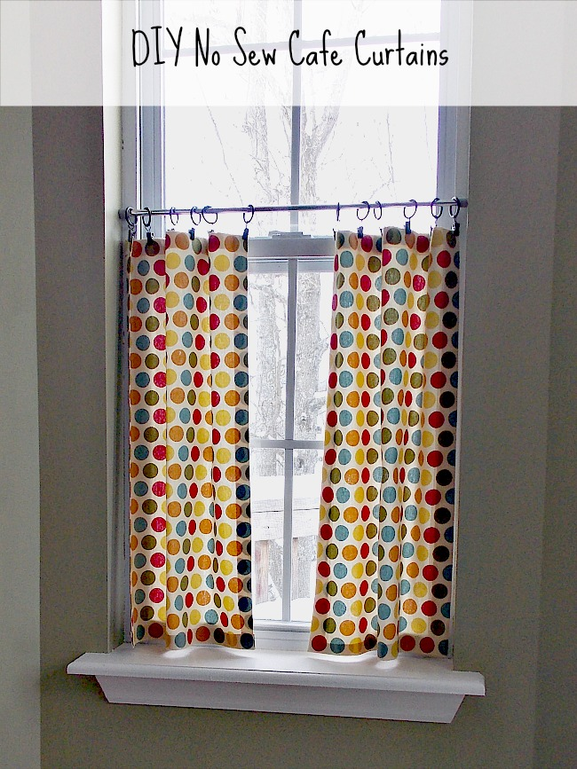 Diy No Sew Cafe Curtains Sweet Parrish Place
