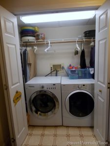 Re Organized Laundry Closet- Mini Makeover