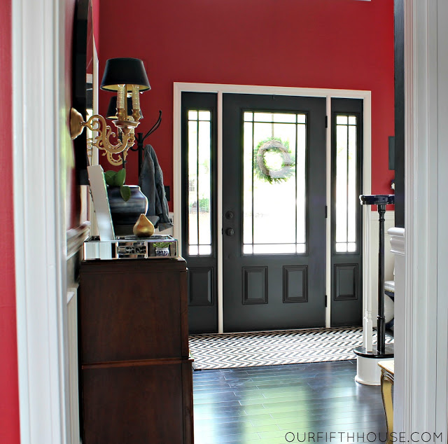red walls black doors