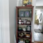 Bookshelf Update With Wrapping Paper- Cheap and Easy