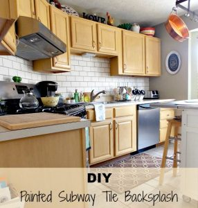 Faux Painted Subway Tile- Reveal