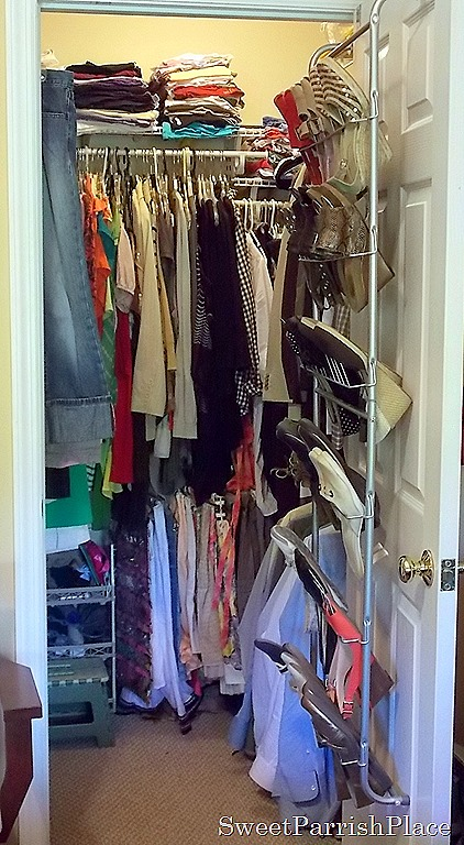 I Have Two Metal Shoe Racks On The Floor To The Right For More Of My Shoes.