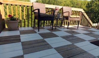 Checkerboard Painted Deck Reveal
