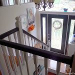 Entryway Progress- Black Hand Rails