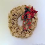 Christmas Burlap Wreath & Centerpiece