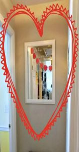 Valentines day mirror
