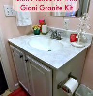 Bathroom sink Makeover with Giani Granite Kit
