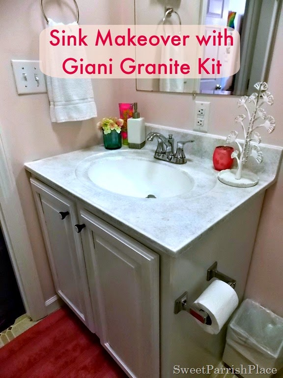 Bathroom Sink Makeover With Giani Granite Kit Sweet Parrish Place - Bathroom sink paint kit