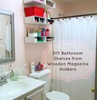 Bathroom Progress – DIY Shelves
