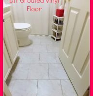 DIY Grouted Vinyl Floor Reveal and Tutorial
