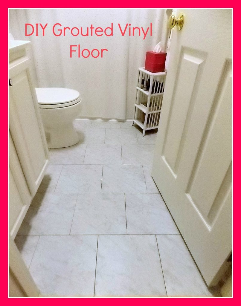 Diy grouted vinyl floor reveal and tutorial sweet parrish place the tile that i purchased is dailygadgetfo Choice Image