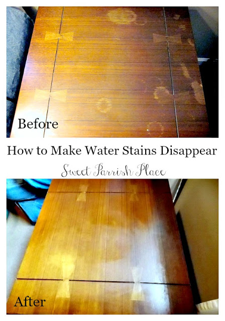 This is a fantastic tutorial for how to remove water stains from wood, and it works!