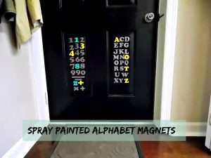Trashtastic Tuesday- Spray Painted Magnetic Letters