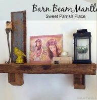 Living Room Progress- How to Install a Barn Beam Mantle