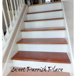 Entryway Progress- Painting Stair Risers