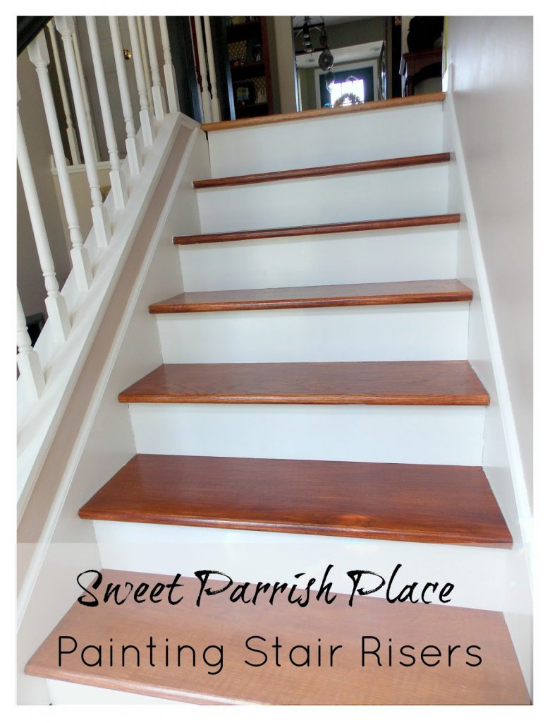 Entryway Progress Painting Stair Risers Sweet Parrish Place