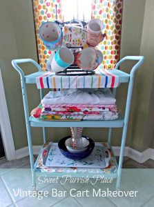 Trashtastic Tuesday- Vintage Bar Cart Makeover