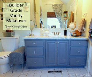 Builder Grade Vanity Makeover- Master Bath Progress