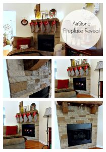 DIY Airstone Fireplace Reveal