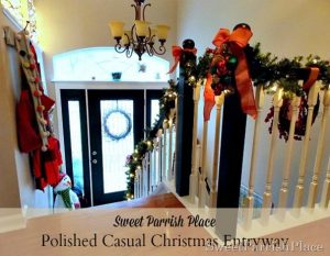 Christmas Entry and Banister