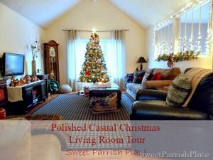 Polished Casual Christmas–Living Room