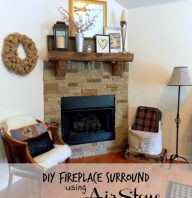 DIY Fireplace Surround- Using AirStone