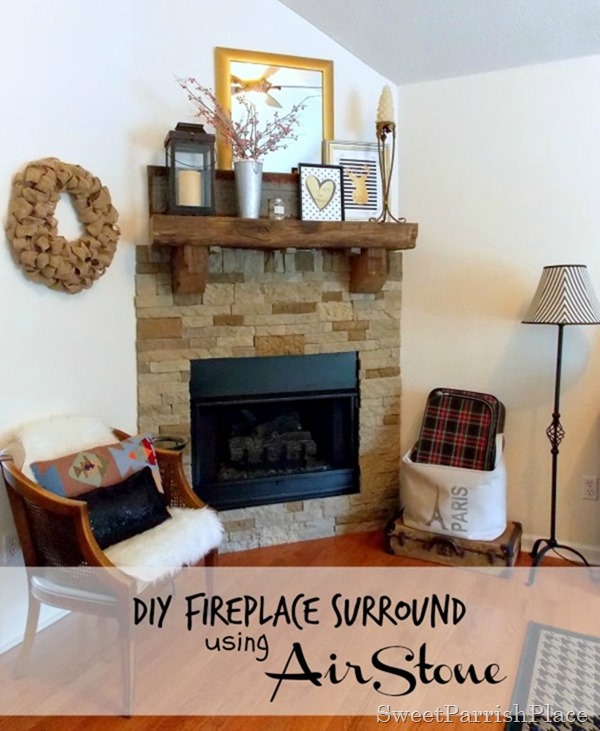 DIY Fireplace Surround- Using AirStone • Sweet Parrish Place