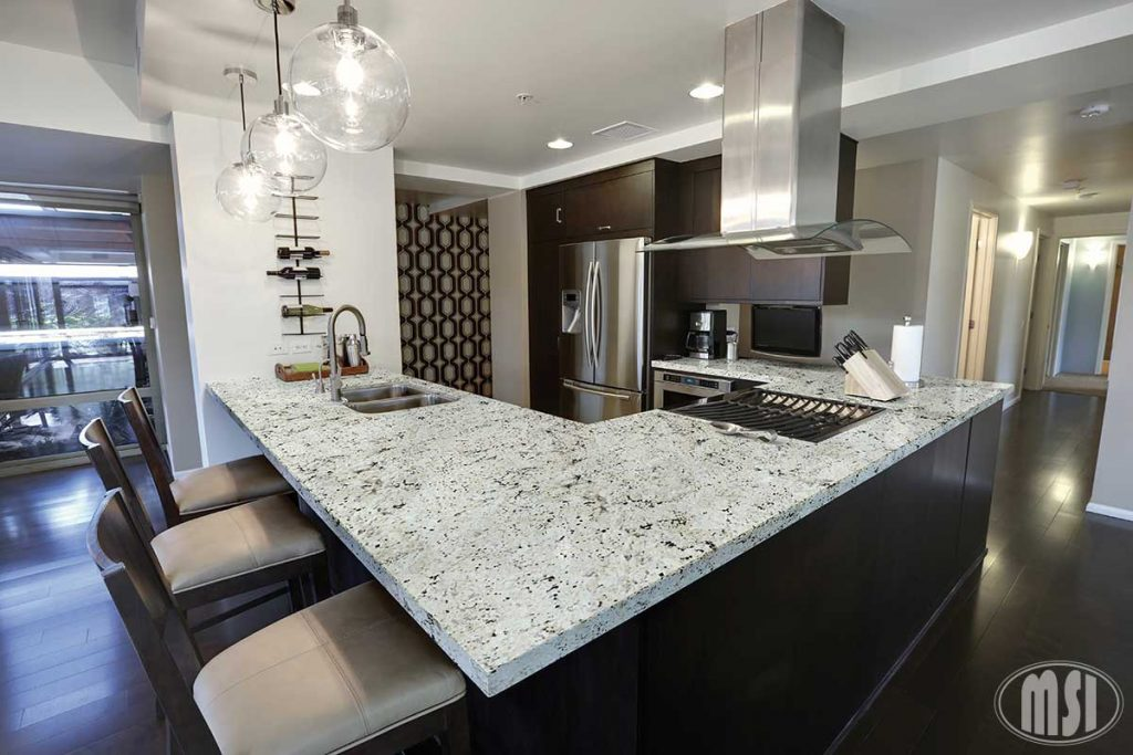 This is a roundup of natural quartz countertop options from M S International
