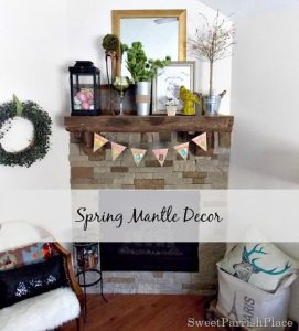 Spring Mantle Decor