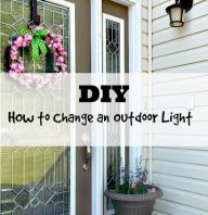 DIY How to Change an Outdoor Light Fixture