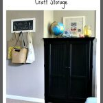 Television Cabinet Repurposed as Craft Storage