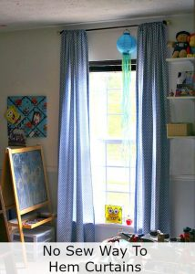 The No-Sew Way to Hem Curtain Panels