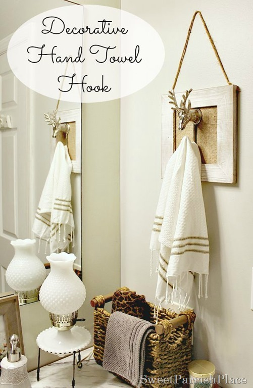 Polished Casual Decorative Hand Towel Hook • Sweet Parrish Place