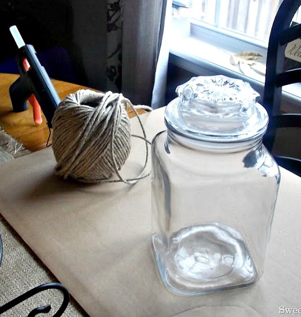 Jute Wrapped Apothecary Jar