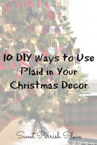 10 DIY Ways to Use Plaid in Your Christmas Decor
