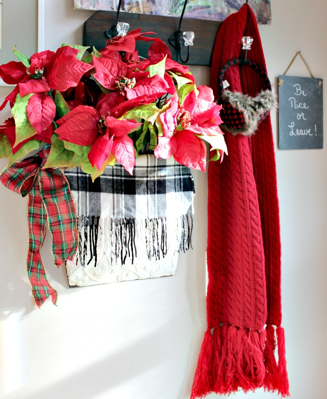 DIY Poinsettia Arrangement