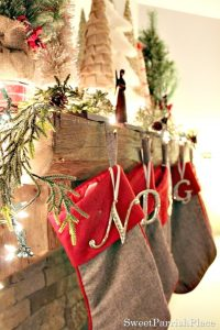 My Rustic Woodland Christmas Mantle