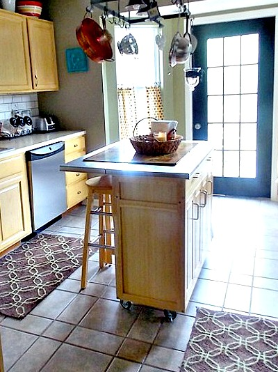 How to install island legs to an existing kitchen island