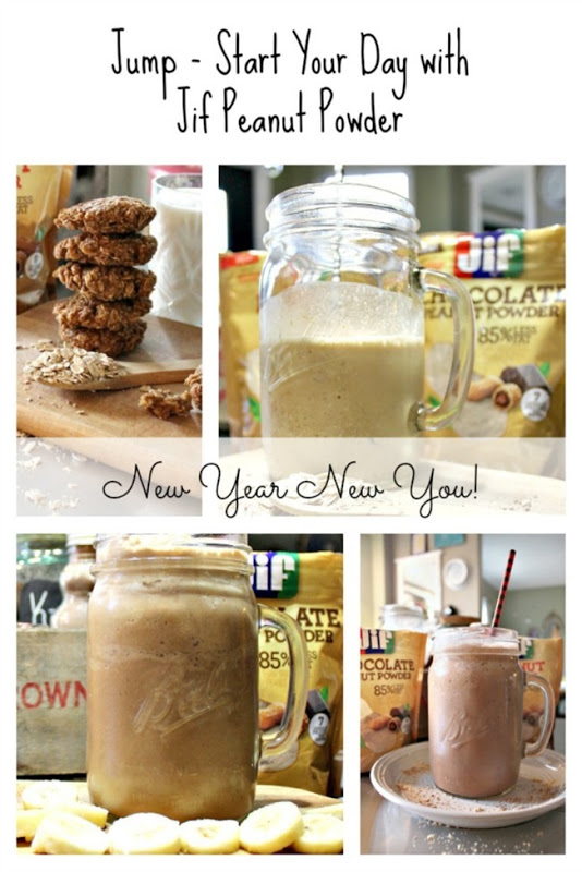 Smoothies and Cookies with Jif Peanut Powder