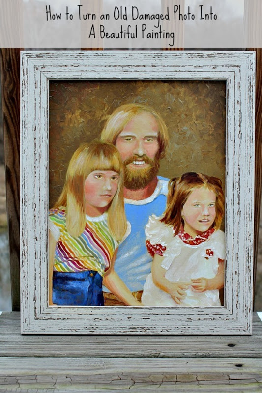 Turn an old photo into a painting
