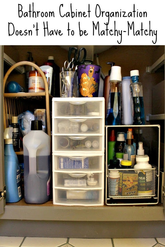Bathroom Cabinet Organization Doesn\'t Have to be Matchy ...