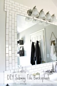Before and After- DIY Subway Tile Backsplash