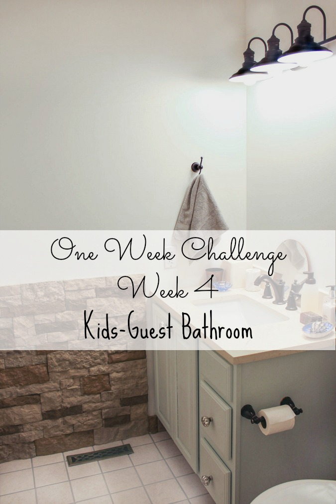 One Room Challenge Week Four New Paint Color Sweet Parrish Place - One week bathroom