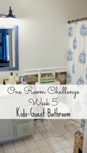 One Room Challenge Week 5- Finished Trim and New Mirror