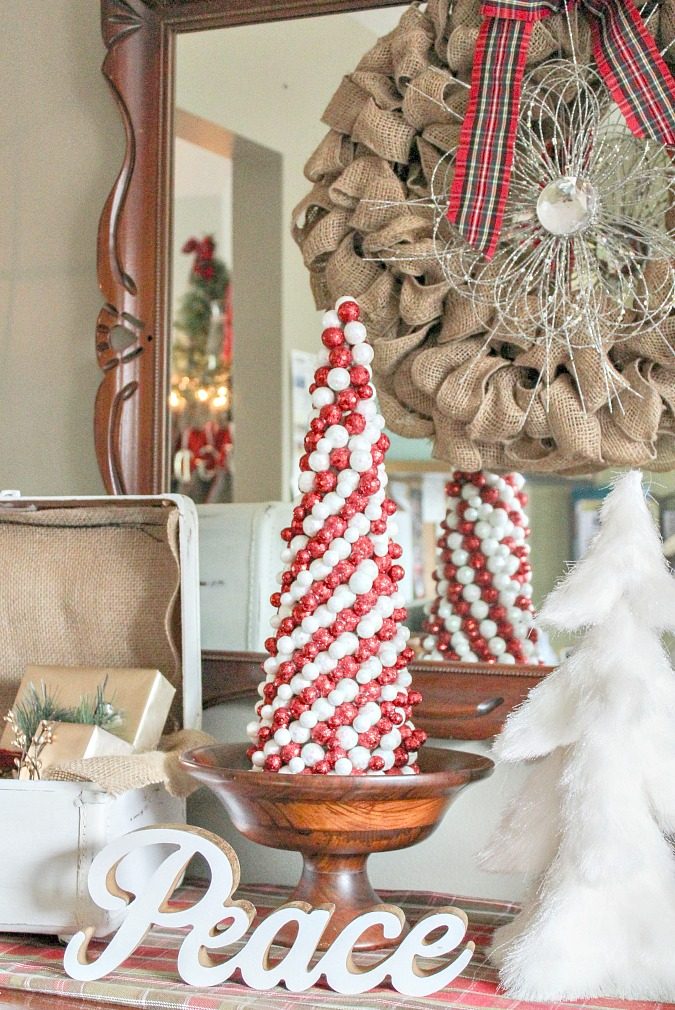 DIY Candy Cane Christmas Tree