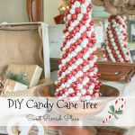 DIY Candy Cane Christmas Tree in the Dining Room