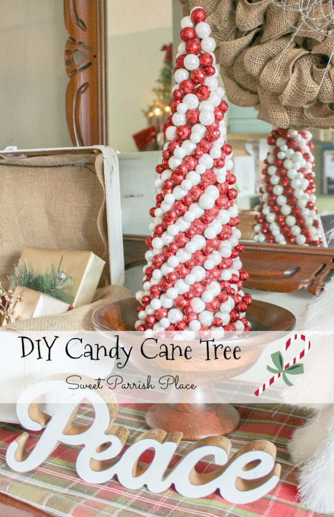 diy candy cane christmas tree - Candy Cane Christmas Tree Decorations