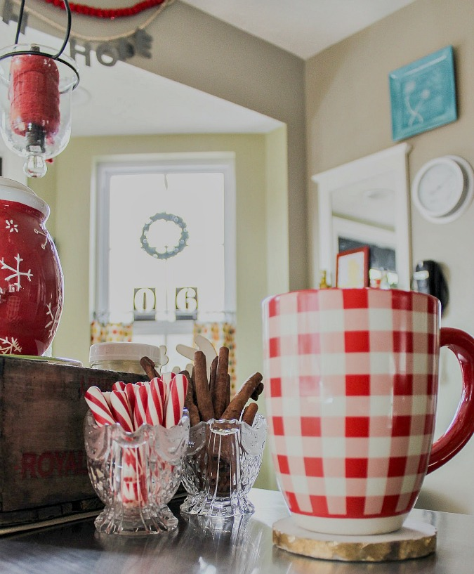 Christmas dining room and hot drink station