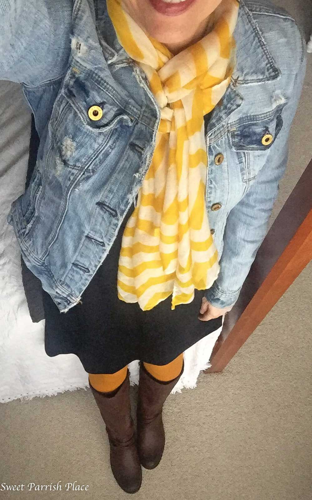 pops of yellow outfit- Sweet Parrish Style